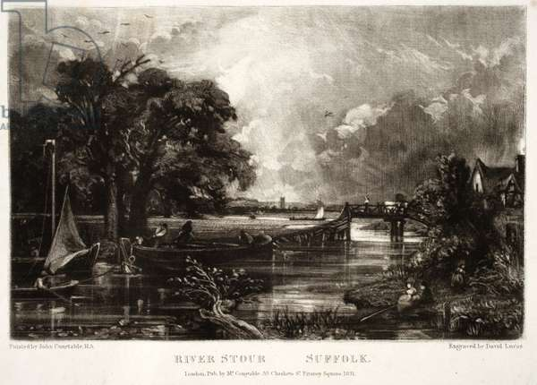 River Stour, Suffolk, from Various Subjects of Landscape Characteristic of English Scenery, engraved by David Lucas (1802-81), 1830-33 (mezzotint)