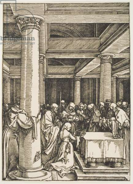 """The Presentation of Christ in the Temple, from the series """"The Life of the Virgin"""", c.1505, printed c.1600 (woodcut)"""