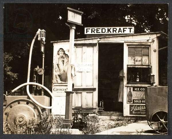 Gas Station, c.1936 (gelatin silver print)