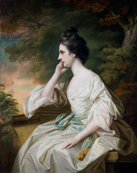 Portrait of Miss Anne Dutton, daughter of Lord Sherborne, mid-18th century (oil on canvas)