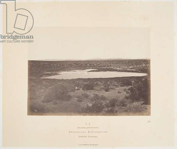 """Small Soda Lake, Carson Desert, from the series """"Geological Exploration of the Fortieth Parallel"""", 1867 (albumen print)"""
