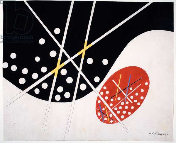 Red and Black Opposites, 1946 (graphite & gouache on paper)