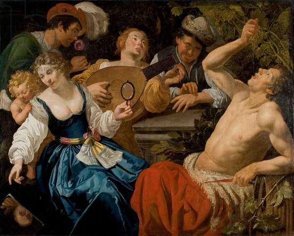 The Five Senses (oil on canvas)