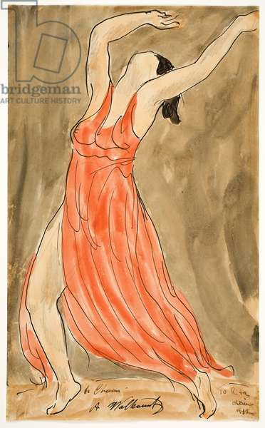Isadora Duncan, c.1942 (w/c & ink over graphite)
