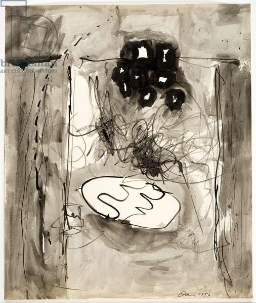 Untitled, 1956 (pen, brush & ink wash on paper)