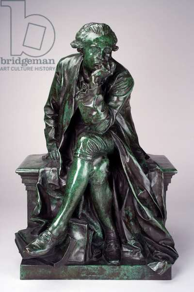 Reduction of Monument to Antoine-Laurent Lavoisier, 19th century (bronze with green malachite patina)