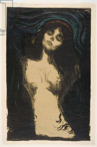 Madonna (Conception), 1895/1914 or later (colour woodcut & litho)