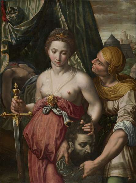 Judith with the Head of Holofernes, c.1550-75 (oil on panel)