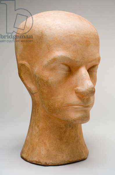 Baudelaire, 1911 (terracotta with pigment)