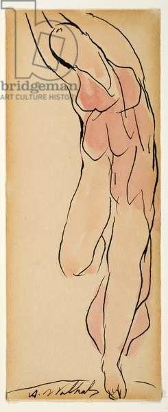 Isadora Duncan (w/c & ink on paper)