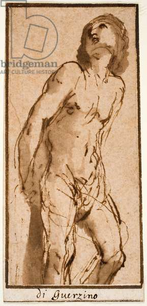 Figure of Christ, c.1644 (pen & brown ink with wash)