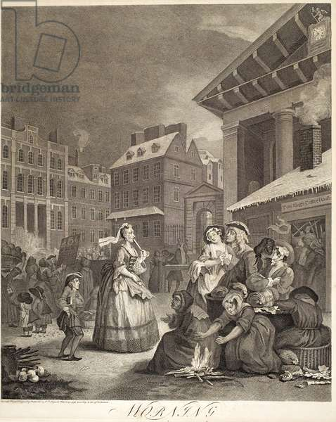 """Morning, from the series """"Four Times of Day"""", 1738 (engraving)"""