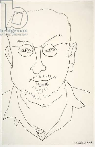 Self-Portrait, 1944 (black ink on paper)