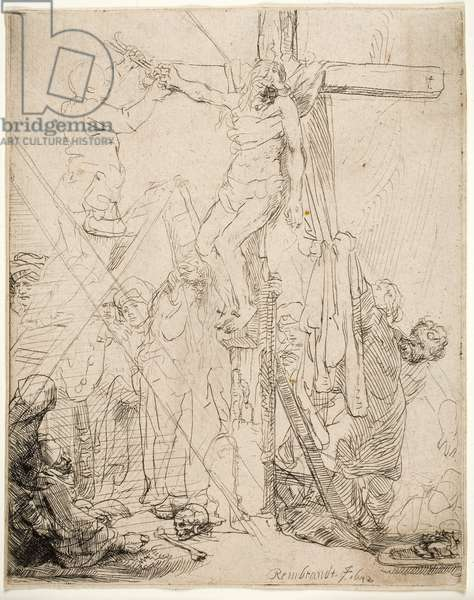 Descent from the Cross: A Sketch, 1642 (etching)