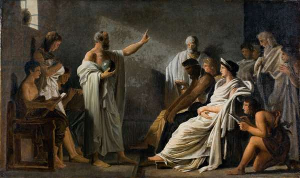 The Earth is Round Pythagoras (oil on canvas)