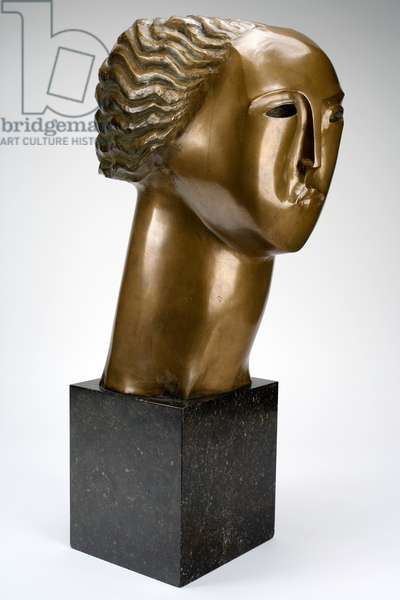 Head of a Woman, after 1922 (bronze)