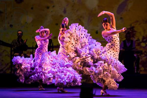 """Spanish National Ballet Company performing """"Centenario Antonio Ruiz"""", 14 April 2021, Teatro de la Maestranza, Seville, Spain (photo)"""