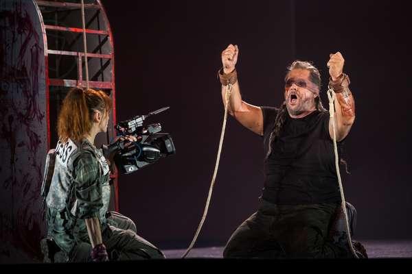 Gregory Kunde as Samson in the opera 'Samson et Dalila', at the Teatro de la Maestranza, Seville, November 2019 (photo)