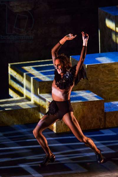 Ruben Olmo, perfoms The Death of a Minotaur' at Italica International Dance Festival, Santiponce, Spain, 25th June 2019 (photo)