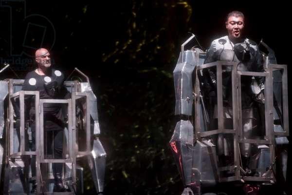 Attila Jun as Fasolt and Stephen Bronk as Fafner (photo)