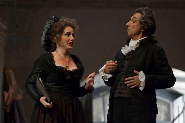 Carlos Chausson as Don Bartolo and Anna Tobella as Marcellina (photo)