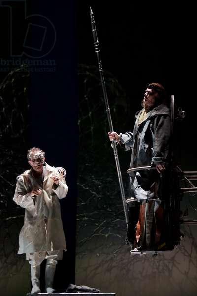 Alan Held as Wotan and Robert Brubaker as Mime (photo)