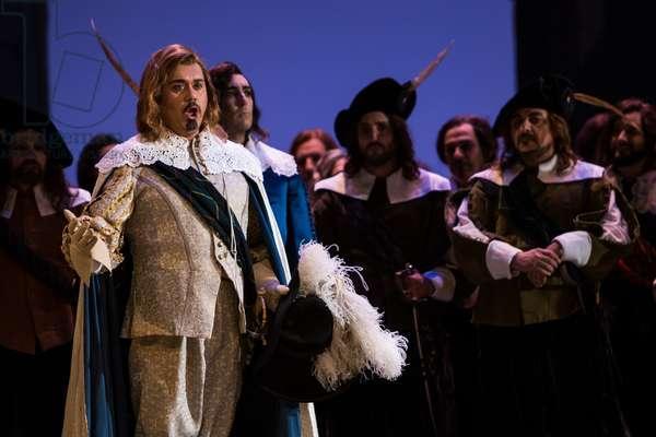 Manuel de Diego as Lord Arturo Buklaw in the opera 'Lucia di Lammermoor', rehearsal at Teatro de la Maestranza, October 2018 (photo)