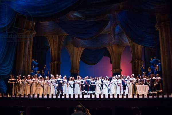 Act 3 of the opera 'Lucia di Lammermoor', rehearsal at Teatro de la Maestranza, October 2018 (photo)