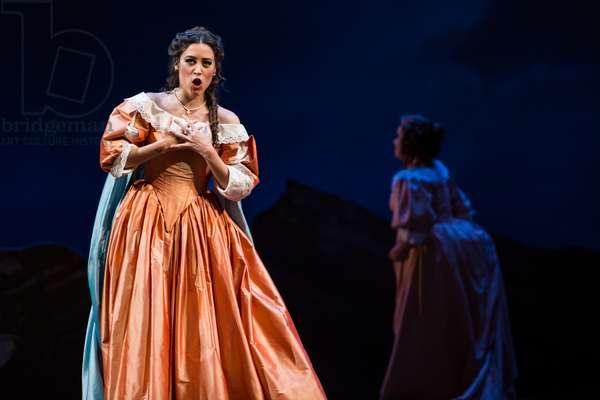 Leonor Bonilla as Miss Lucia in the opera 'Lucia di Lammermoor', rehearsal at Teatro de la Maestranza, October 2018 (photo)