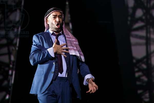 Damian del Castillo as high priest of Dagon in the opera 'Samson et Dalila', at the Teatro de la Maestranza, Seville, November 2019 (photo)