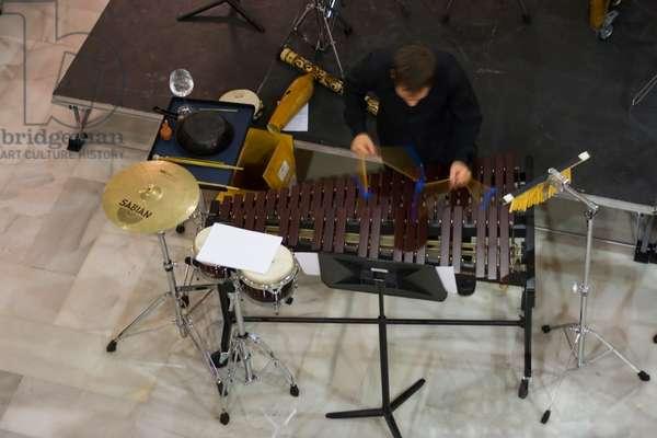 Percussion ensemble of Foundation Barenboim-Said (photo)