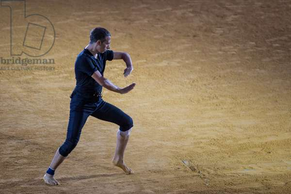 Israel Galván performing 'Arena' in the Maestranza bullring during the 20th Bienal de Flamenco de Sevilla Festival, Seville, Spain, 7th September 2018 (photo)