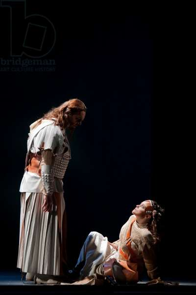 Michael Volle as Wotan and Evelyn Herlitzius as Brünnhilde (photo)