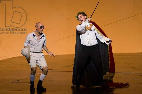 Lawrence Zazzo as Julius Caesar and José Julián Frontal as Achil (photo)
