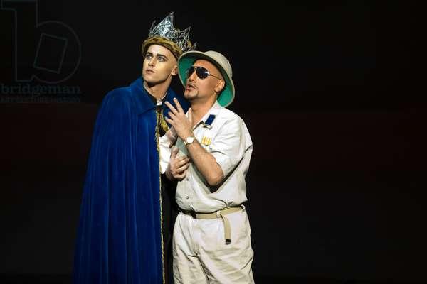 José Julián Frontal as Achillas and David Hansen as Ptolomeo (photo)