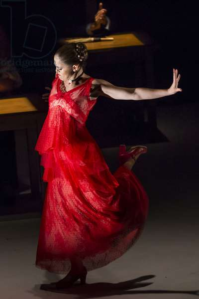 Flamenco dancer Patricia Guerrero perfoms Dystopia, spectacle nominated for three MAX Awards  of Performing Arts, at Italica International Dance Festival, Santiponce, Spain, 16th july 2019 (photo)