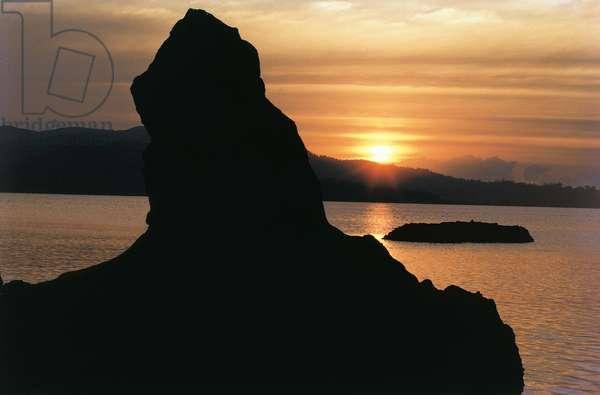 Sunset at Chiriya Tapu southernmost tip of south Andaman (photo)