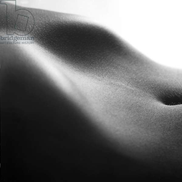 Human form abstract body part (b/w photo)