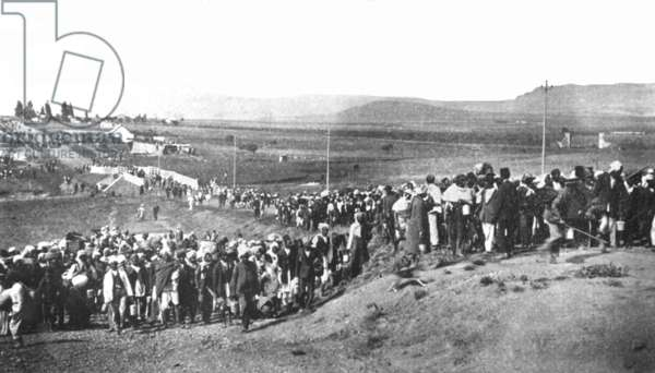 The Great March to the Transvaal, November 6, 1913 (b/w photo)