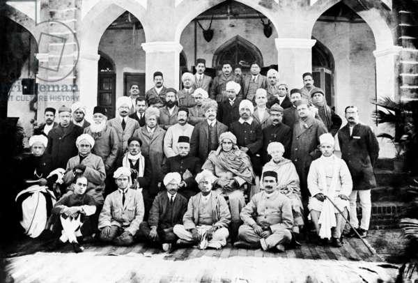 Indian national congress under Prime Minister Nehru (b/w photo)