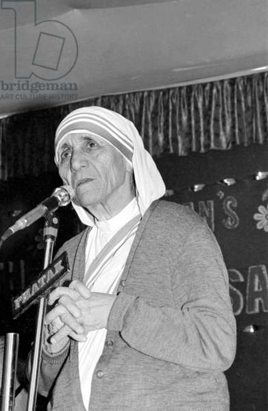 Mother Teresa (b/w photo)