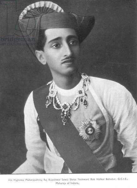 Maharajah Yeshwantrao Holkar II (b/w photo)