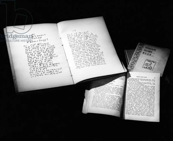 Mahatma Gandhi's book 'Hind Swaraj' Or 'Indian Home Rule' published 1909 (photo)