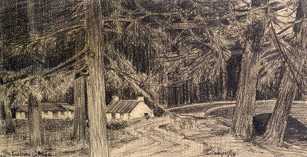 The Keeper's Cottage, 1918 (pencil)