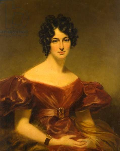 Portrait of Miss Cecilia Siddons (1794-1868), 19th century (oil on canvas)