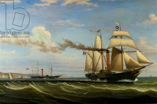 The Schooner 'Dundee', 1834 (oil on canvas)