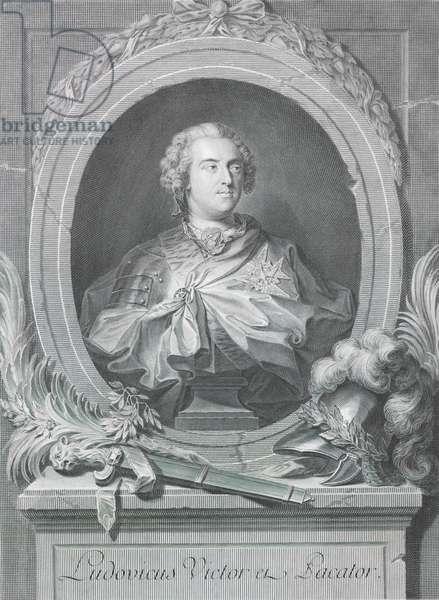 Ludovicus victor et Pacator, 1748 century (engraving)