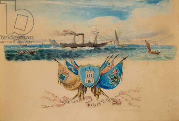 The SS Forfarshire, 19th century (w/c)