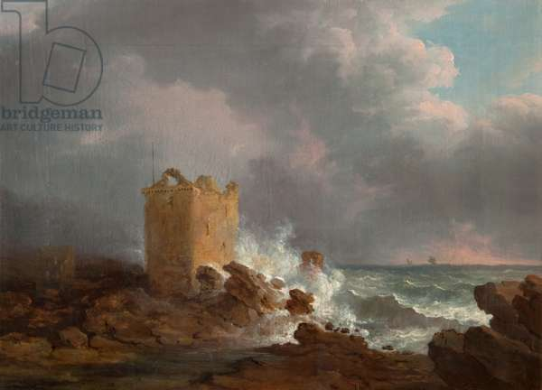 Broughty Castle During a Storm, c.1810 (oil on canvas)