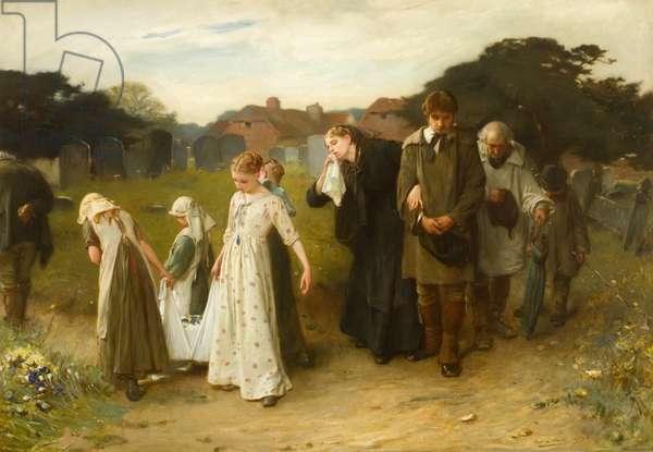 Her First Born, Horsham Churchyard, 1876 (oil on canvas)
